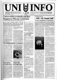 Nr. 3-4 / APRIL 1985 - Presse & Kommunikation - Universität ...