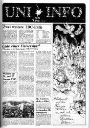 Nr. 19 / DEZEMBER 1982 - Presse & Kommunikation - Universität ...