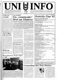Nr. 7 / APRIL 1982 - Universität Oldenburg