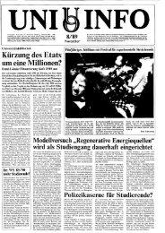 Nr. 8 / NOVEMBER 1989 - Presse & Kommunikation - Universität ...