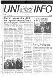 Nr. 5 / JUNI 1992 - Presse & Kommunikation - Universität Oldenburg