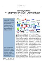 Thermodynamik: Von brennendem Eis und Chemieanlagen