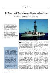Die Klima- und Umweltgeschichte des Mittelmeeres - Universität ...