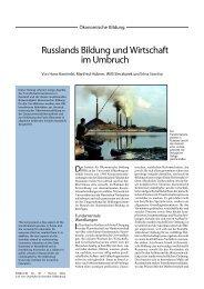 Russlands Bildung und Wirtschaft im Umbruch - Universität Oldenburg