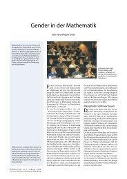 Gender in der Mathematik - Universität Oldenburg