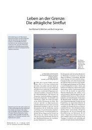 Leben an der Grenze: Die alltägliche Sintflut - Universität Oldenburg