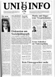 Nr. 6 / JULI 1990 - Presse & Kommunikation - Universität Oldenburg