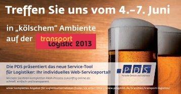 """Messeeinladung zur """"transport logistic 2013"""""""
