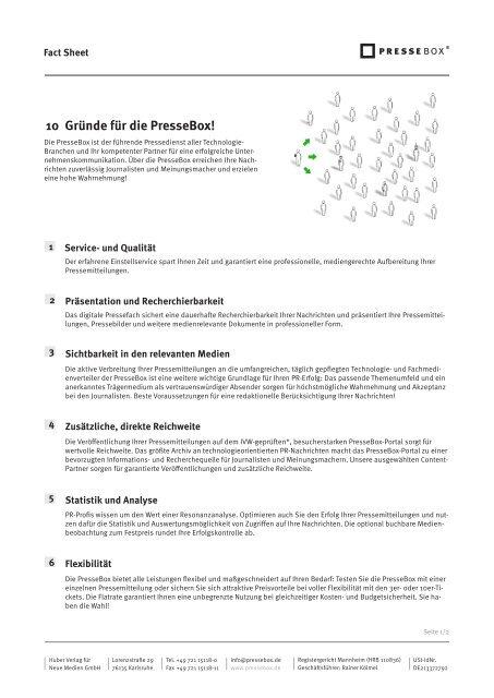 FactSheet - PresseBox