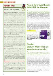 Neu in Ihrer Apotheke: IMMUFIT for Woman Studie: Warum ...