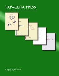 2012 Papagena Press Catalog - the Theodore Presser Company