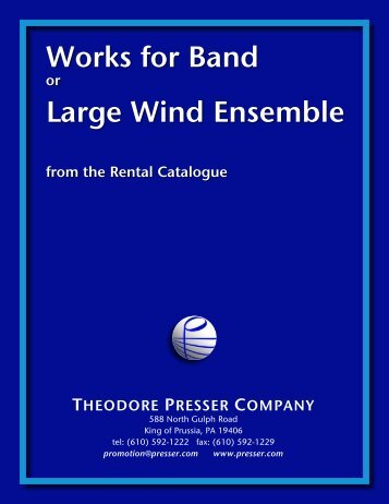 Works For Band - the Theodore Presser Company