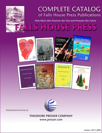 COMPLETE CATALOG - the Theodore Presser Company