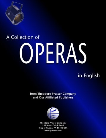 A Collection of in English - the Theodore Presser Company