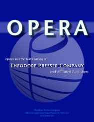 PDF catalog - the Theodore Presser Company