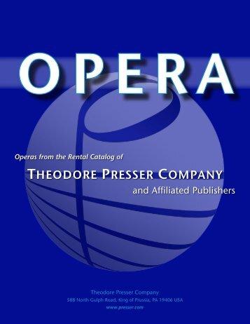 PDF catalog - the Theodore Presser Company