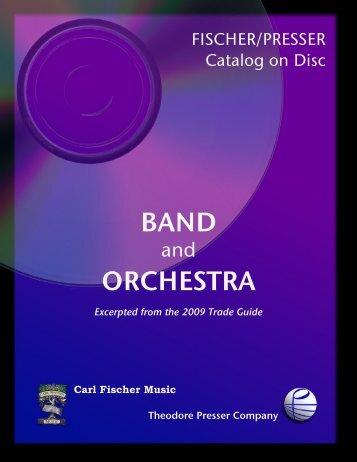 BAND ORCHESTRA - the Theodore Presser Company