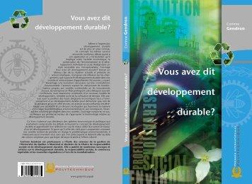 Vous avez dit développement durable? - Presses Internationales ...