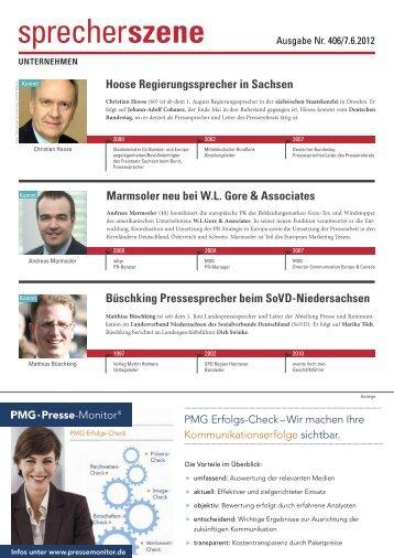Hoose Regierungssprecher in Sachsen ... - Pressesprecher