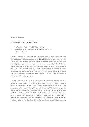 PRESSEINFORMATION DIE (Frankfurter) WELLE – auf zu neuen ...