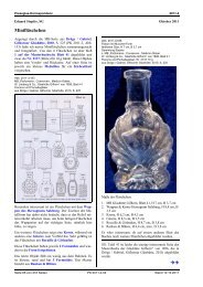 Stopfer, SG, Minifläschchen - Pressglas-Korrespondenz