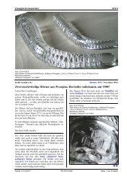 Jeschke, SG, Zwei merkwürdige Hörner aus Pressglas, Hersteller ...