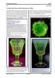 SG, Vaseline Flint Glass Goblet, Russian circa 1850s - Pressglas ...