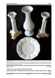 Vogt, SG, Teller, Vase und Leuchter, Meissen, um 1840, nach ...