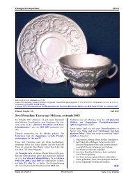 Zwei Porzellan-Tassen aus Meissen, erstmals 1843 - Pressglas ...