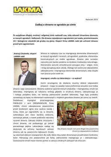 Zadbaj o drewno w ogrodzie po zimie - PressOffice.pl