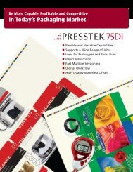 75DI Packaging Applications - Presstek