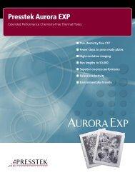 Aurora EXP Brochure - Presstek