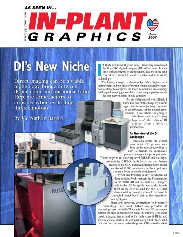 In-Plant Graphics – DI's New Niche - Presstek