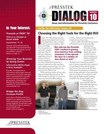 Dialog Newsletter #10 - Presstek