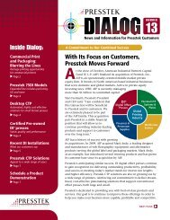 Dialog Newsletter #13 - Presstek