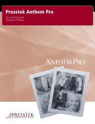 Anthem Brochure - Presstek
