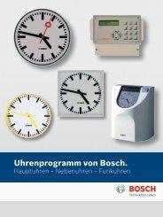 Uhrenprogramm von Bosch. - Bosch Security Systems