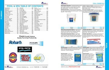 pool chemicals - Prestosupply.com - Presto Supply