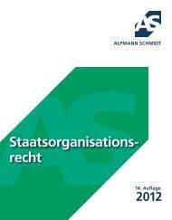 STAATSORGANISATIONSRECHT 2012 - Alpmann Schmidt