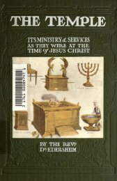 The Temple Ministry and Services at the Time of Jesus