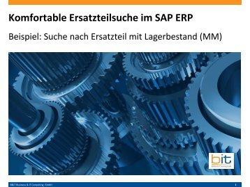 Komfortable Ersatzteilsuche in SAP ERP MM mit EPO Search