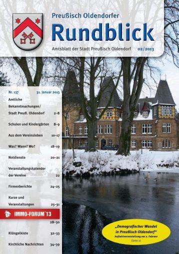 Rundblick 02-2013 - Stadt Preußisch Oldendorf
