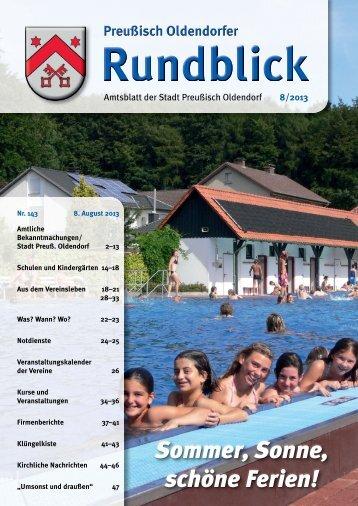 Rundblick 8-2013 - Stadt Preußisch Oldendorf