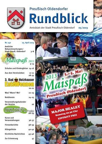 Rundblick 5-2013 - Stadt Preußisch Oldendorf