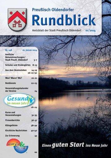 Rundblick 1-2014 - Stadt Preußisch Oldendorf