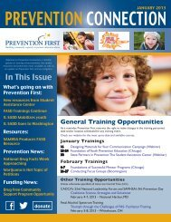 Prevention Connection - January 2013 - Prevention First