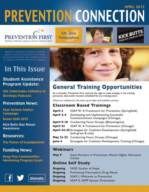 Prevention Connection - April 2013 - Prevention First