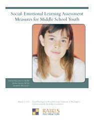 Social-Emotional Learning Assessment Measures for Middle School ...