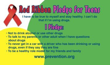 Red Ribbon Pledge for Teens