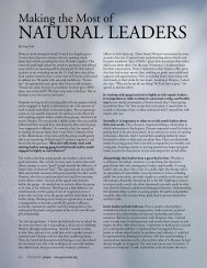 NATURAL LEADERS - Prevention First